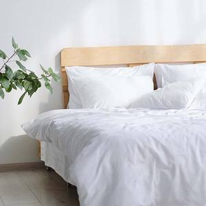 Super Silky 100% White Color Lyocell Bamboo Bedding Set 1xflat sheet 1xfitted sheet 2xpillowcase Bedsheet Set