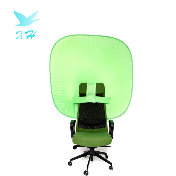 customized size square portable green screen background for chair back