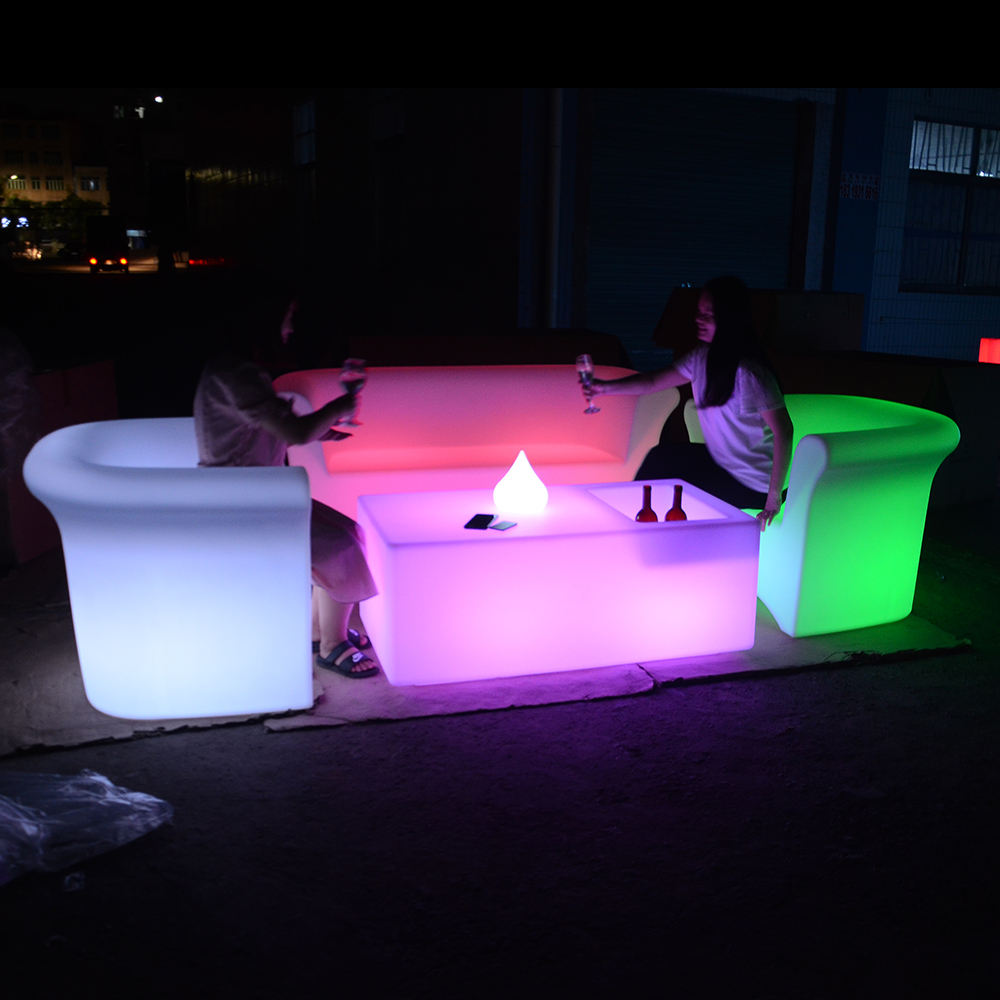 portable led bar table hookah lounge furniture led light cocktail bar tables and chairs for events wedding party
