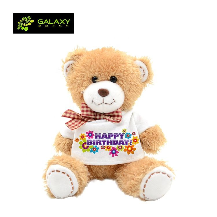 Teddy Bears Cute Toys for Personalized Sublimation Blanks Wholesale Gifts
