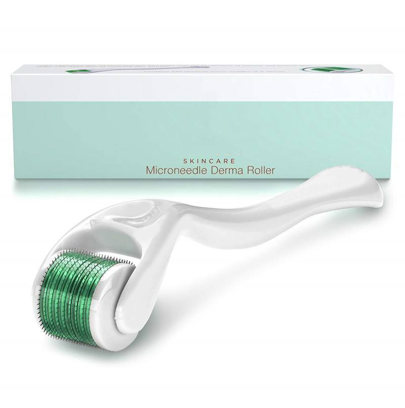 Cosmetic Microdermabrasion Instrument 540 Titanium Micro Needles Derma Roller For Face