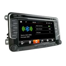 New 2 Din 7 Inch Capacitive Touch Screen Autoradio Multimedia Bluetooth GPS Car Radio For VW