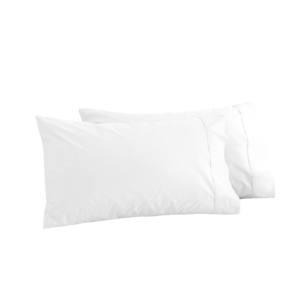 Amazon Classic Style Standard Size Soft Custom Print White Cotton Pillow Cases