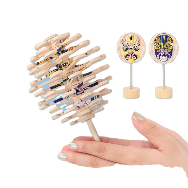 Creative Rotating Lollipop Wooden Office Decoration Decompression Artifact Fei's Sequence Decompression Game Educational Toys