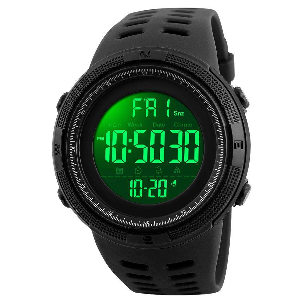 SKMEI 1251 Wholesale Custom Logo Men Watches Waterproof jam tangan Digital Sport Watch