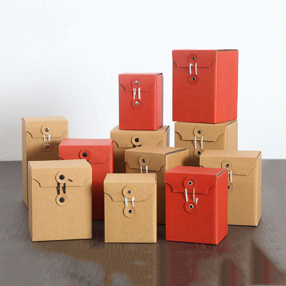 Honey Jar Packaging Box Kraft Folding Paper Envelope Box With String