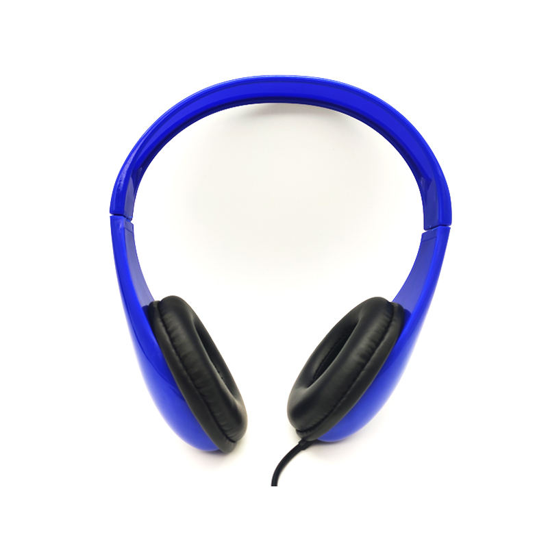 3.5mm Jack wired headphone On Ear Stereo Sound Wired Headset with volume control with Small Size