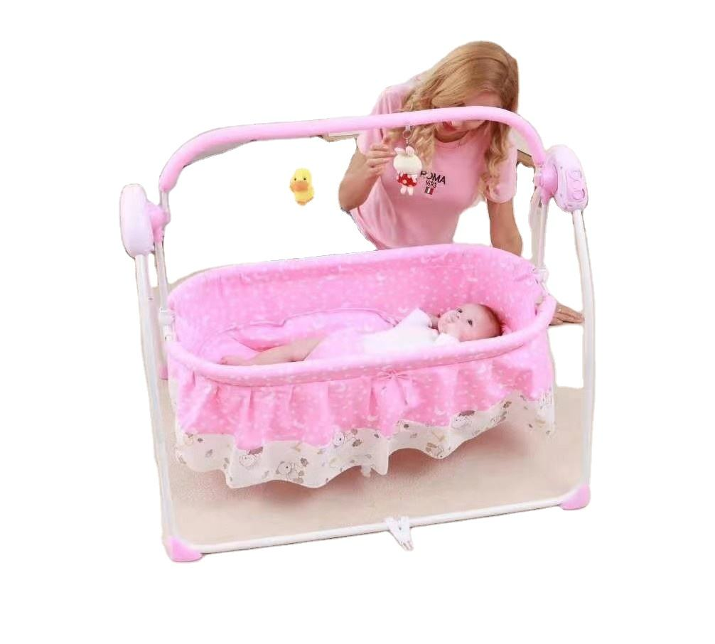 Hot baby electric swing bed baby portable rocking crib foldable baby cradle