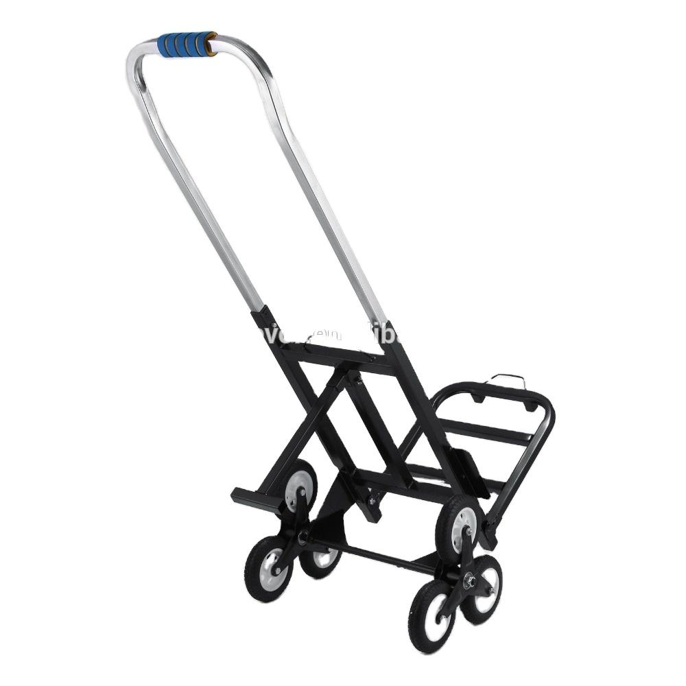 6 Wheels Portable Folding Hand Stair Climbing Cart