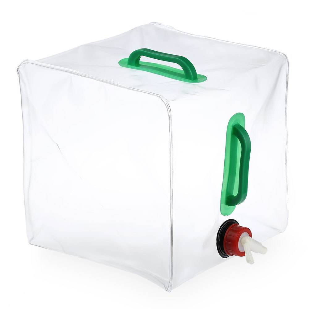 Folding Collapsible Transparent Water storage Bag Car Container Water Carrier 20L Camping Gear PVC Outdoor Foldable Water Bag