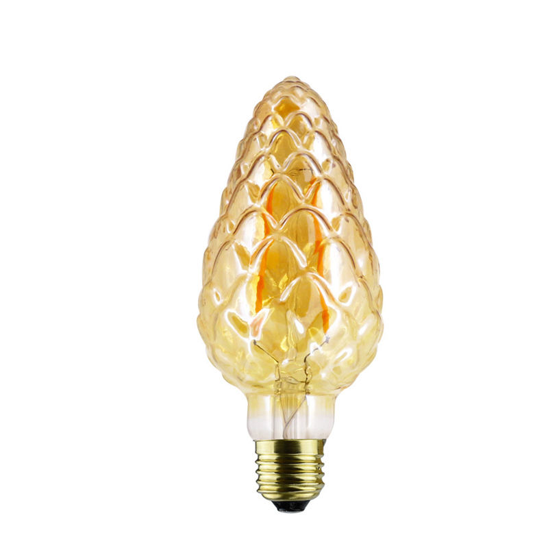 Pine cone shape Edison LED CB75 E27/E26/B22 6.5W 8 wick filament bulb energy saving, durable and safe