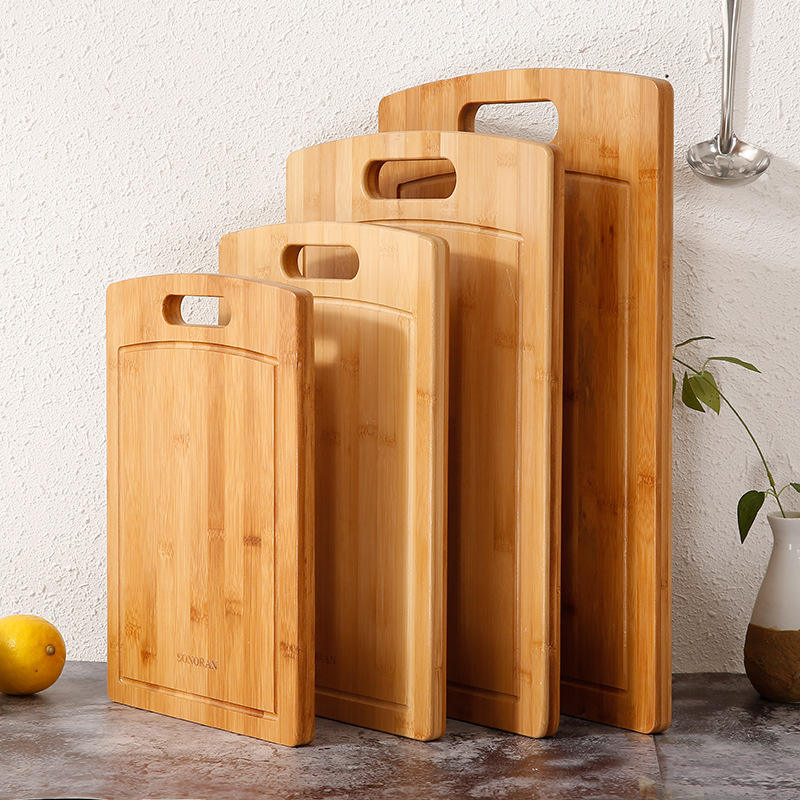 Kitchen Cutting Board for Meat and Chopping Vegetables Eco-Friendly Wood Bamboo Cutting Board