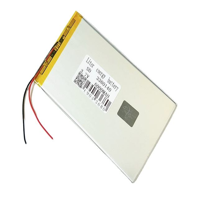 Wholesale ultra thin 3380140 6000mAh lipo batteries 3.7V rechargeable lithium ion polymer
