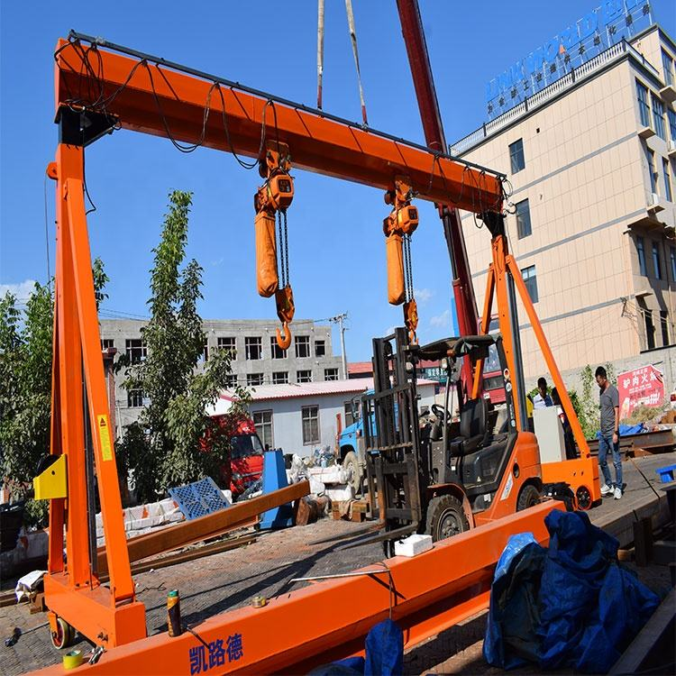 adjustable height steel gantry crane used turbine portable for sale