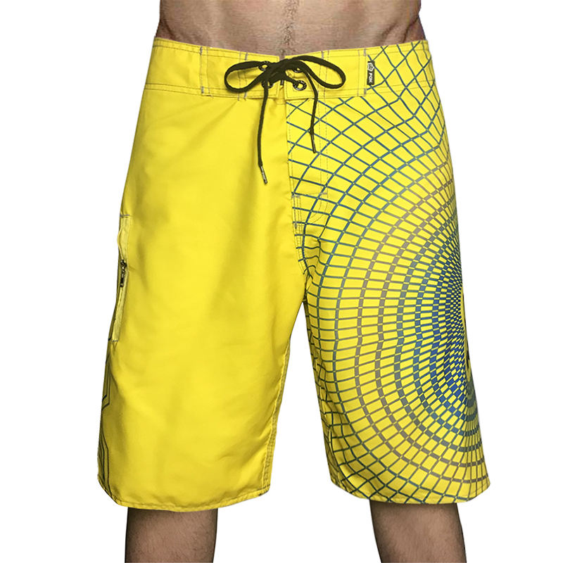 Custom Wholesale Surf Shorts Beach Pants Summer Beach Shorts Boardshorts 4 Way Stretch Mens Board Shorts Swimwear Swim Trunks