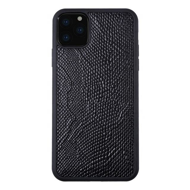 Shockproof OEM Logo Skinned leather small python for iPhone 11 tpu pc eco-friendly phone case
