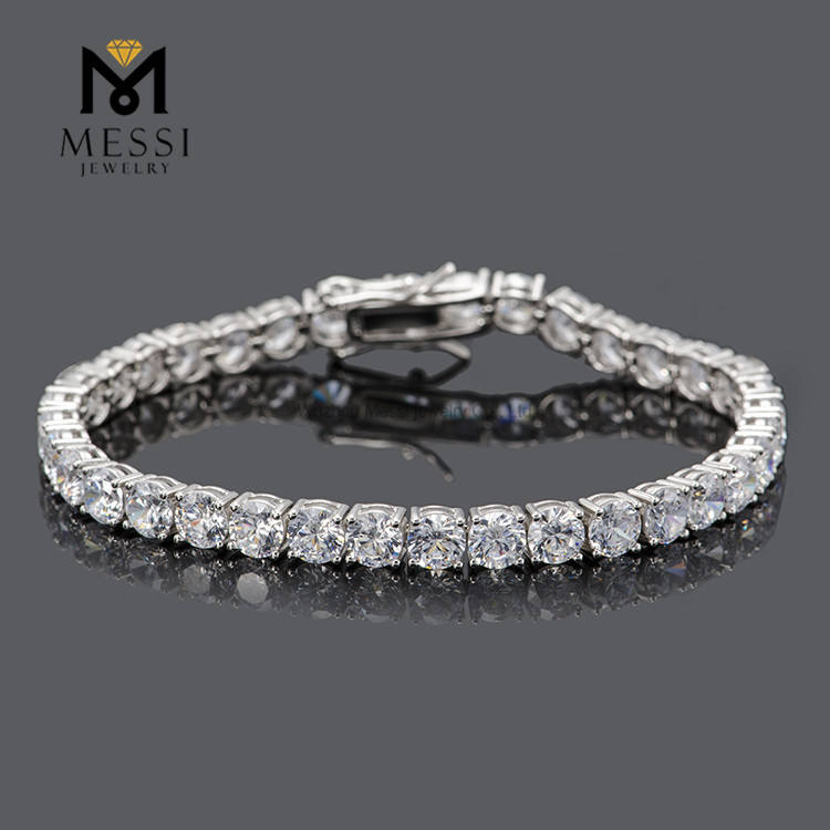 Messi Jewelry Classic 0.5ct DEF white 925 silver/14k 18k gold tennis moissanite silver bracelet