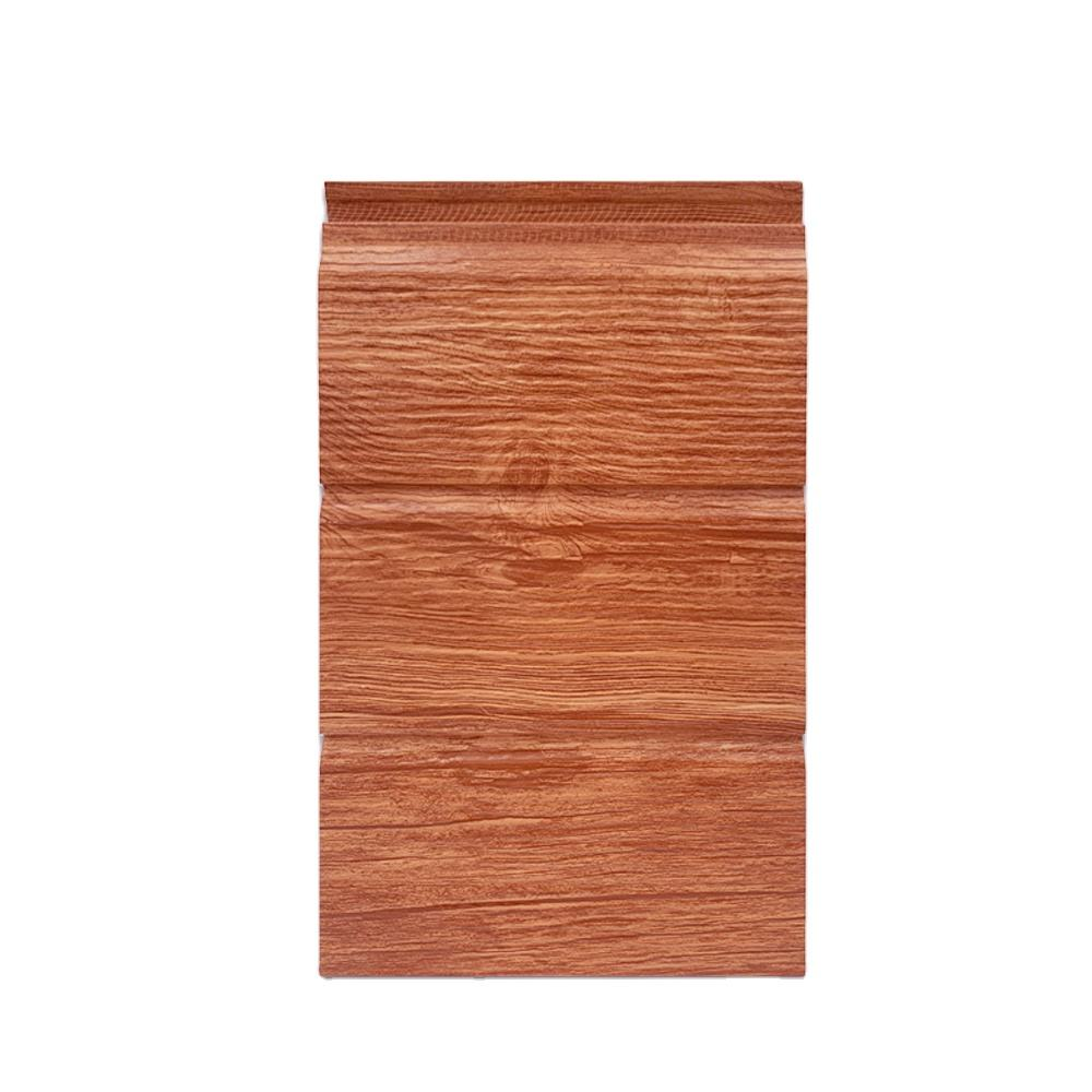 wood grain sandwich 3D insulated metal siding panel
