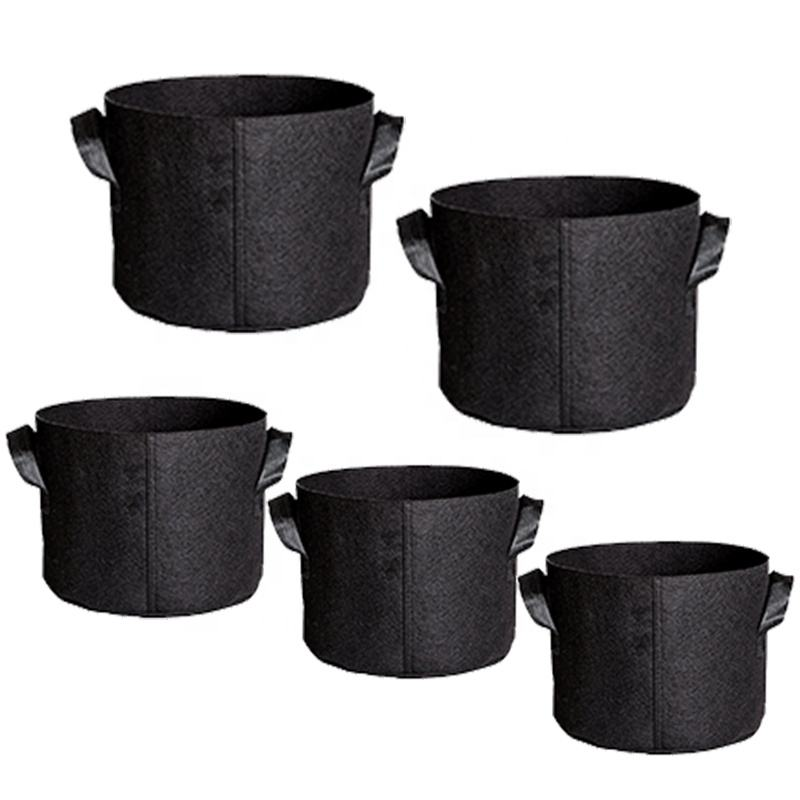 wholesale cheap price recycled fabric smart pots felt grow bags 5 gallon for outdoor garden and indoor grow tent