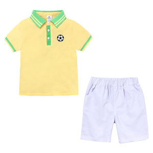 Fashion Kids Baby Boy polo shirt Cotton Children Clothes Set