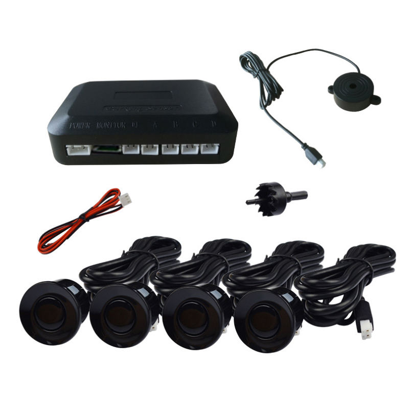 Universal Car Parking aid System LED Reversing Radar With 4 Sensors Car Parking Sensor