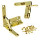Solid Brass Nickle Plated Quadrant Hinge For Humidor Boxes Wine Cigar Case