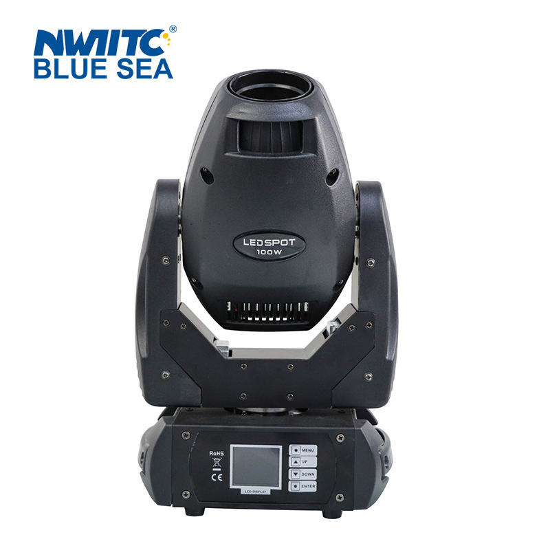 New party stage light 100w glass gobo rotating mini led spot moving head