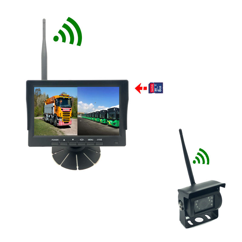 HD720p Digital Screen 1024*600 7 Inch TFT LCD Car Parking Monitor wireless camera system