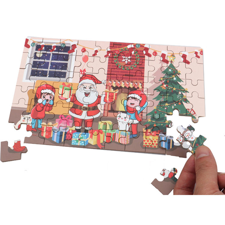 Christmas gift diy 2d wooden Jigsaw Puzzle for kids