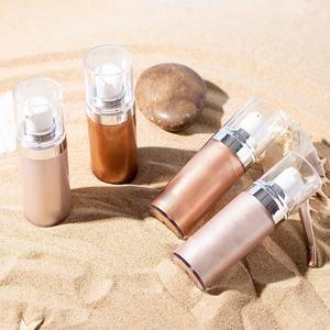 Private Label Makeup Highlighter Born to Glow Liquid Illuminator Bronze Body Shimmer Oil