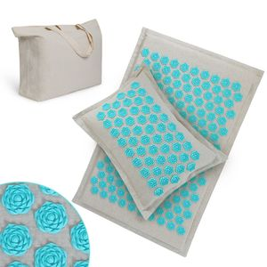 new yoga back neck pain relief muscle relaxation acupressure mat and pillow set