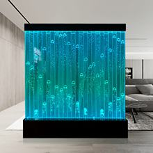 Acrylic water bubble wall with bullets bubble used as room dividers screen