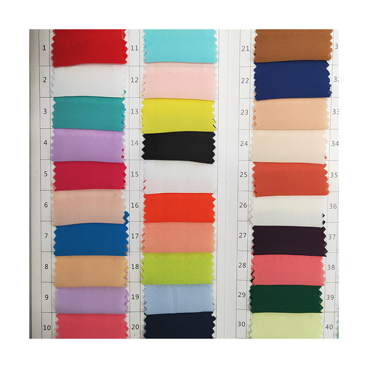 Most popular plain dyed polyester woven diamond mess crepe heavy chiffon fabric for garment