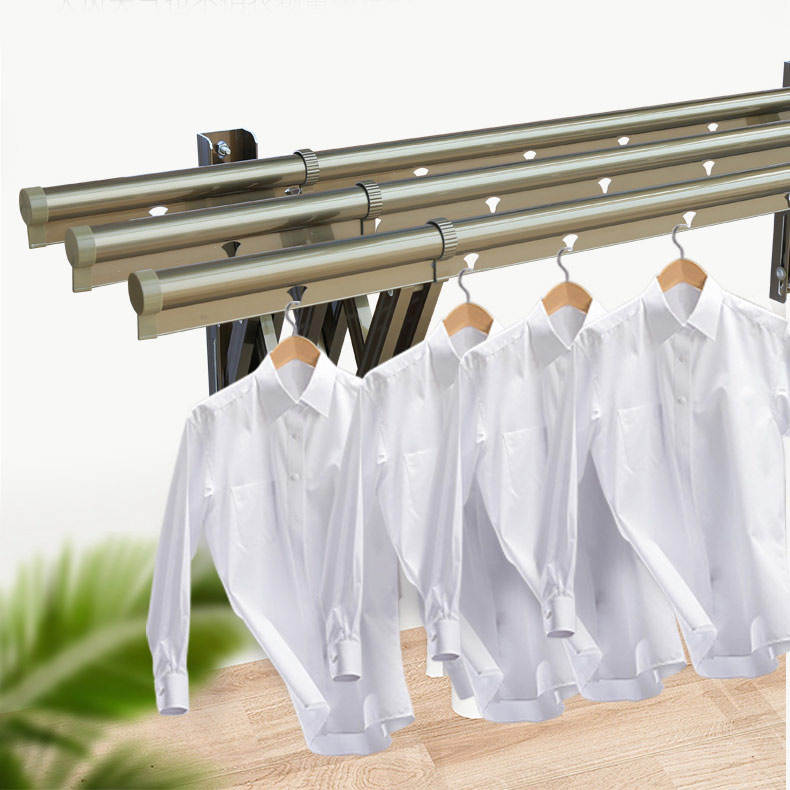 Wall mounted clothes hanger drying cloth rack hangers