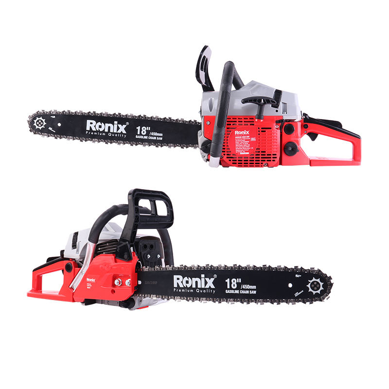 Ronix 4647 Portable Gasoline Chainsaw 1.9KW Petrol Chain Saw Wood Cutting Machine