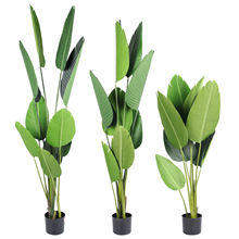 Our factory directly produces plastic artificial birds of paradise plants for outdoor indoor decoration