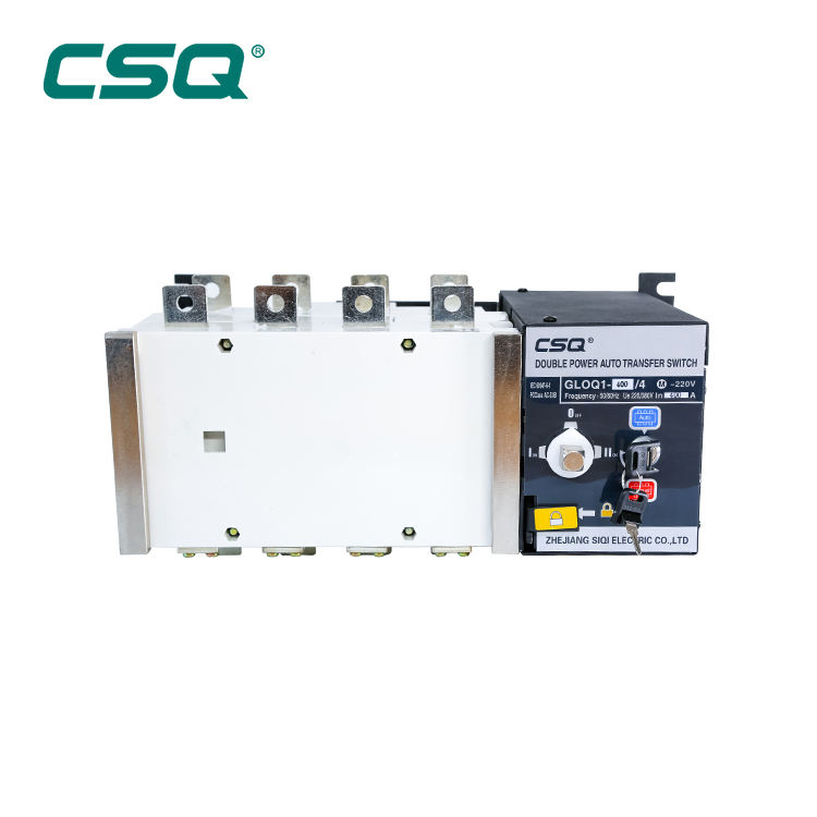 GLOQ1 4P 400A Automatic Transfer Switch <span class=keywords><strong>ATS</strong></span> AC220v CSQ <span class=keywords><strong>Cina</strong></span> Pemasok 200A 250A 4Pole Automatic Changeover Switch 100A ATSE