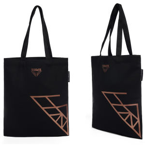 black customized cotton canvas tote bags manufacturer