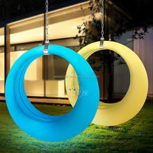 outdoor garden adults led light jhula hanging swing chair, garden decorative kids and children illuminated swing set