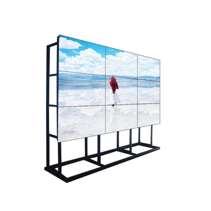 Ultra Thin Seamless Bezel TV DID LCD Video Wall IPS Technology Free Splicing Display 55 Inch Panel Floor Standing with Bracket