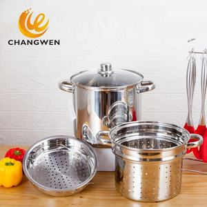 Multifunction hot pot 4PC stock pot Stainless steel pasta pot set cooker pasta