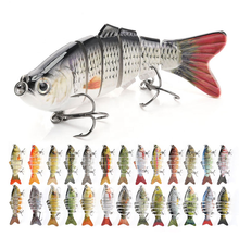 Sinking Wobblers Fishing Lures 10cm 17.5g 6 Multi Jointed Swimbait Hard Artificial Bait Pike/Bass Fishing Lure Crankbait