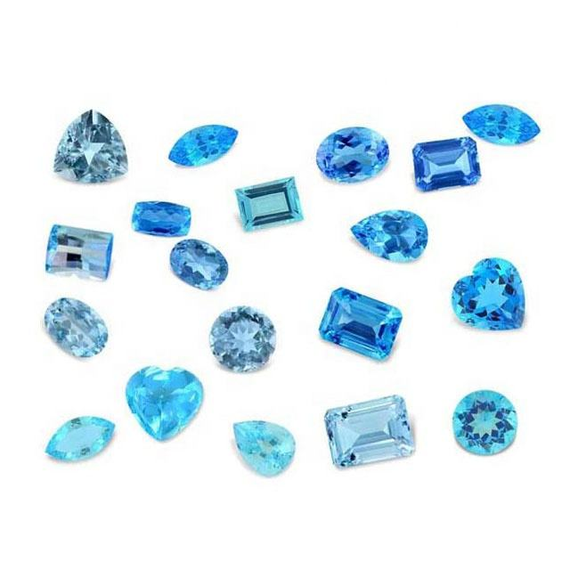 Natural Blue Topaz Loose Gemstone