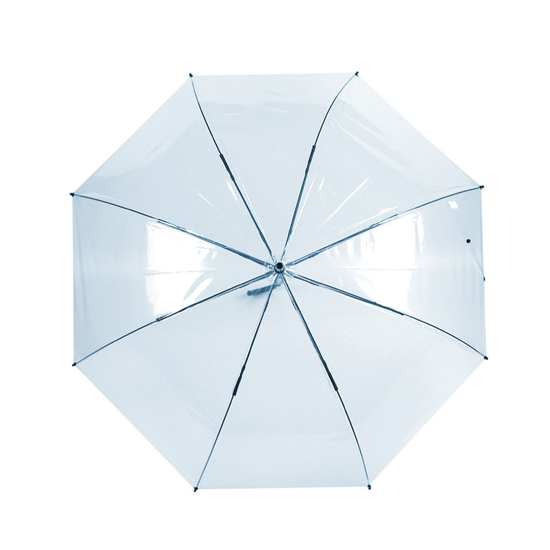 Wholesale Auto Opening clear Regular Straight waterproof transparent umbrella