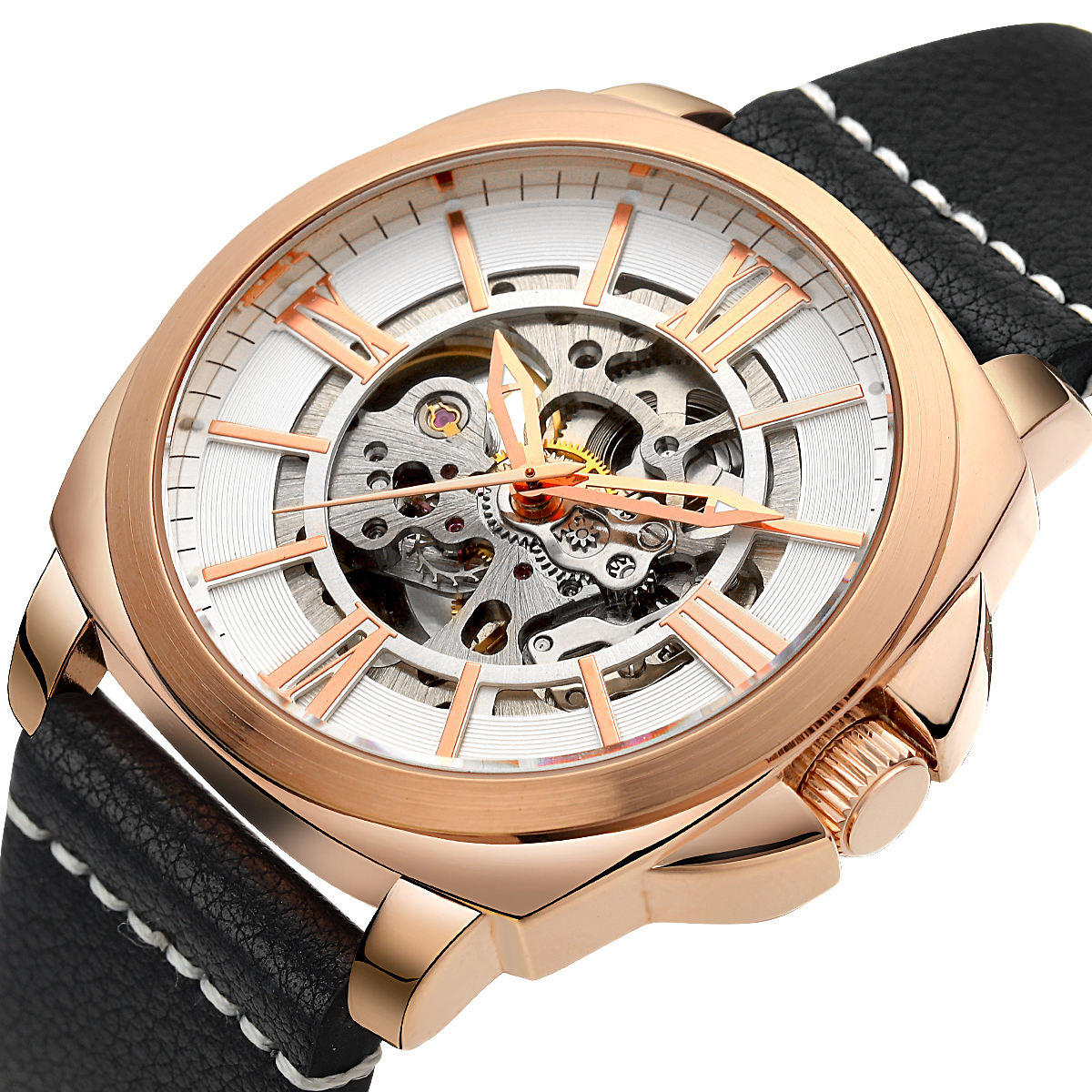 Wholesale Popular Men Automatic Watch Custom High Quality Brand Wristwatches Luxury Rose Gold Mechanical Watch