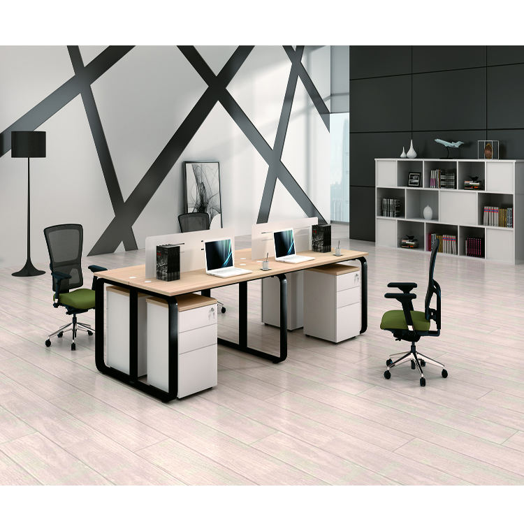 Small Size White Modern Simple Style Steel Frame and Legs Office Furniture Conference Desk Meeting Table