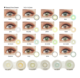 Color Contact Lens Colored Colour Contact Lense HOT BTS New Look Color Contact Lens Beautiful Style Wholesale Yearly Disposable Colored Eye Contact Lenses