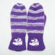 Kids purple colors jacquard machine mittens fleece lining gloves with embroidery