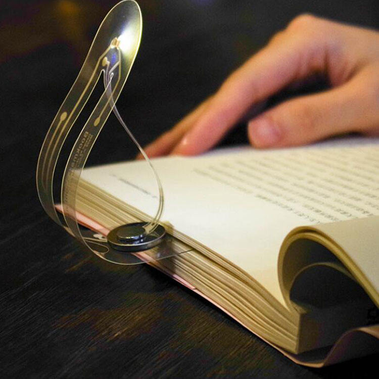 FOLDABLE New Thinnest Flexible LED bookmark light FOR gift