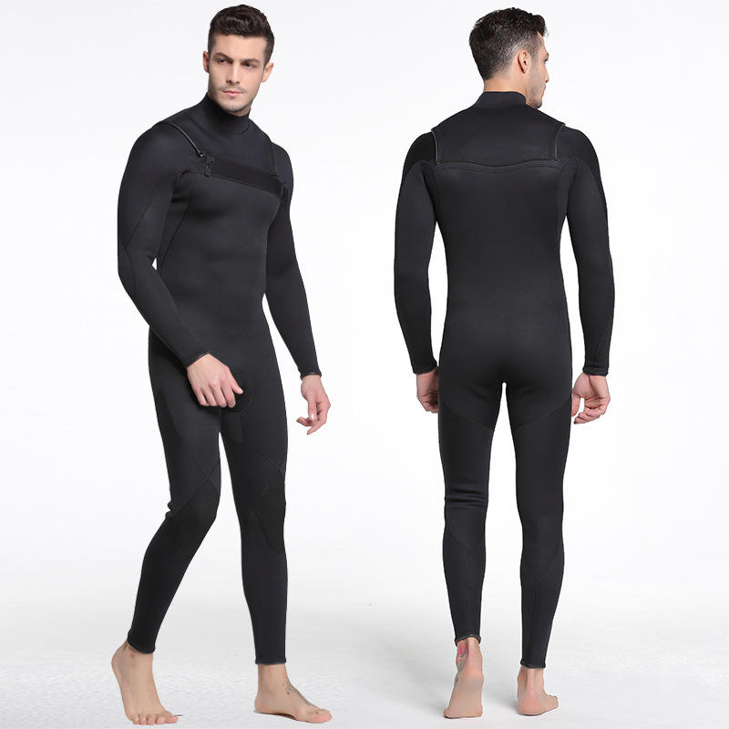 Wholesale Retail 3mm Neoprene Chest Zip Men Full Wetsuits Diving Suits Surfing Wear Swimwear